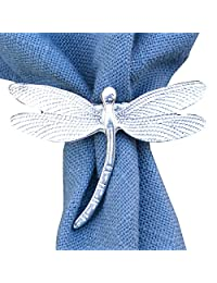 Fine Pewter Dimple Dragonfly Scarf Ring, Handcast by William Sturt