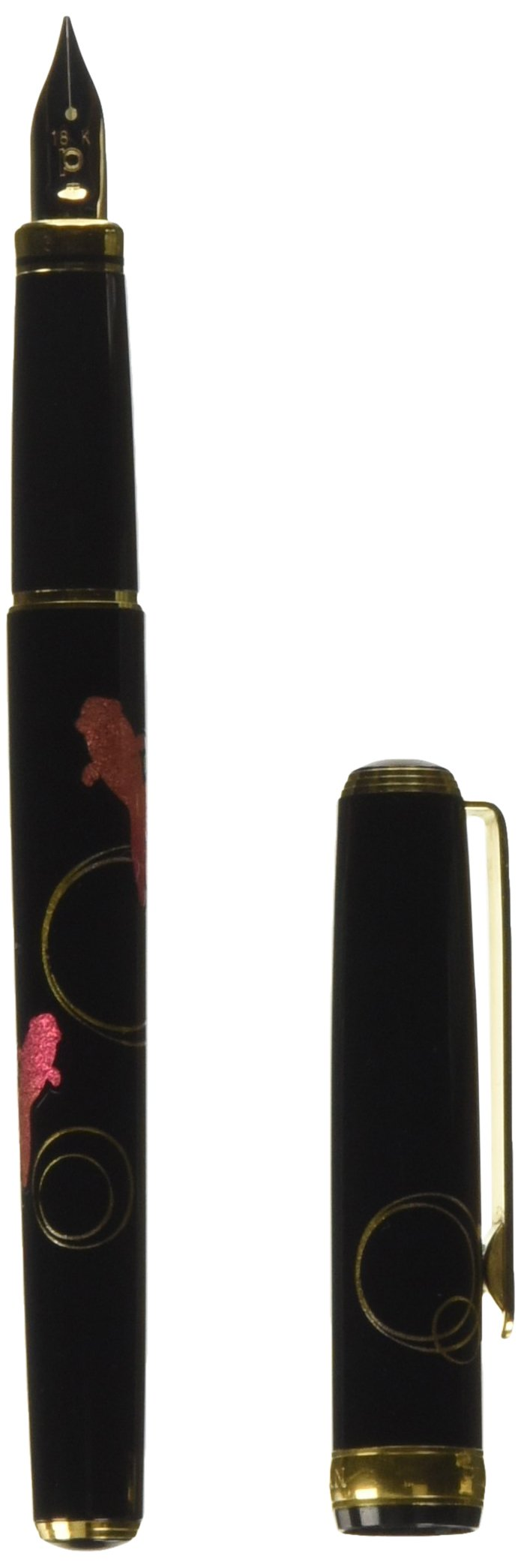 Platinum Maki-e fountain pen Kanazawa foil goldfish in character (M) PTL-15000H # 24-3 (japan import) by Purachinaman'nenhitsu Co., Ltd.