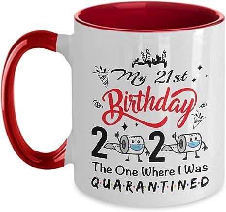 21st Funny Birthday Coffee Mug Quarantine 2020 Gift Idea For Him For Her