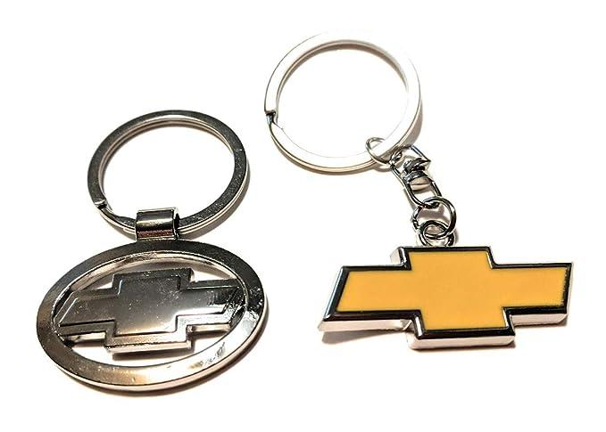 Amazon.com: 2 premium Chevy keychain metal Chrome logo ...