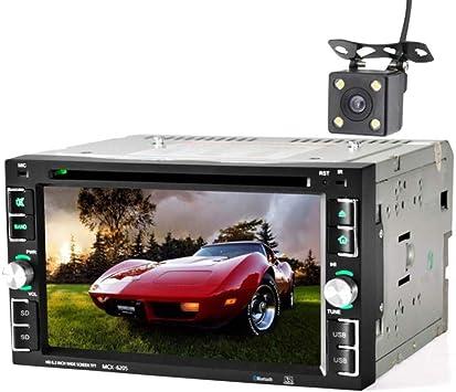 WWCAR 6.2 Pulgadas 2Din Coche DVD Stereo CD MP3 Player en Dash Bluetooth para iPod Auto HD Radio TV Video Audio Cámara Aparcamiento: Amazon.es: Electrónica