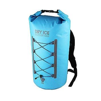 Dry Ice Cooler Mochila Nevera Portátil 40 Litros Turquesa Impermeable D004T: Amazon.es: Deportes y aire libre