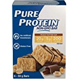 Pure Protein Bars, Non-Gmo 20g Protein Bar, No Artificial Sweeteners, Peanut Butter Cup Flavor, Value Pack, 6 count