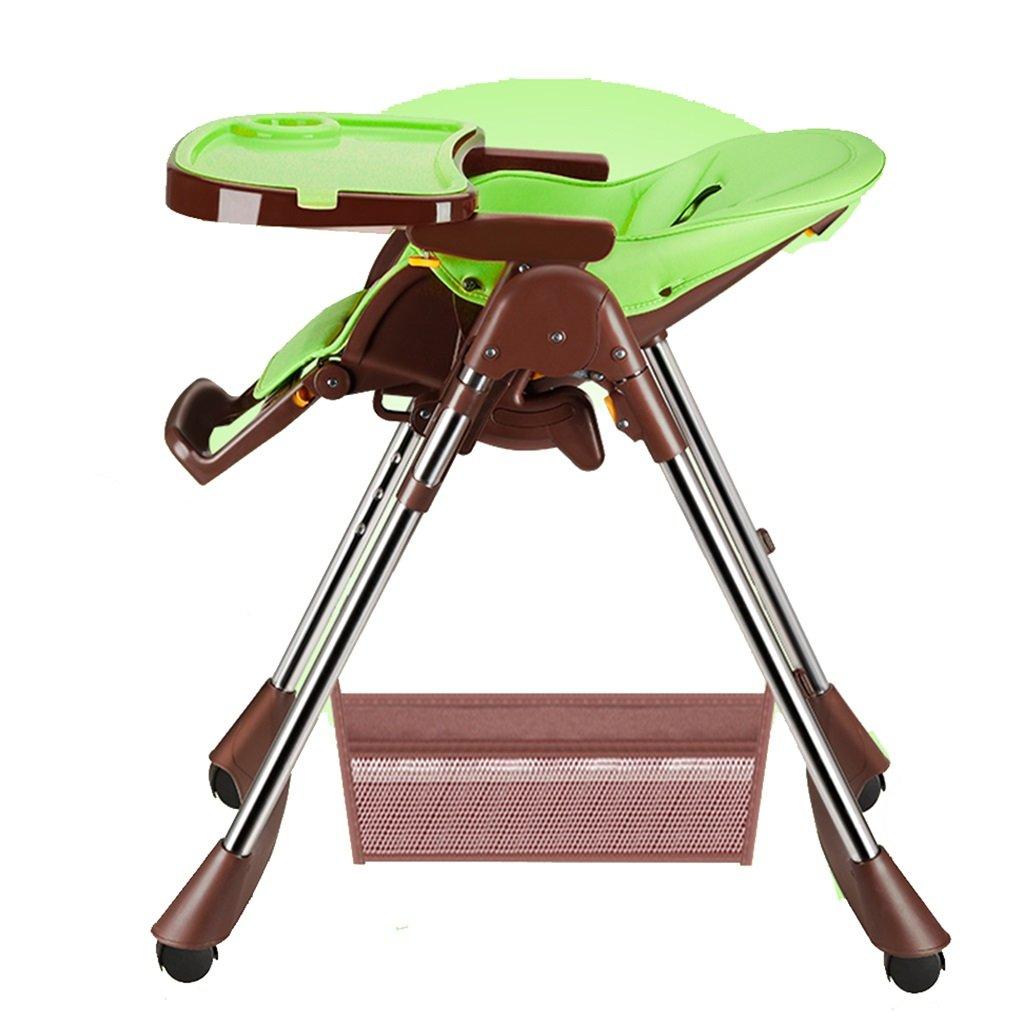 ZGL 子ども椅子 多機能のベビーダイニングチェアポータブル子供の椅子折りたたみ式のベビーチェアチャイルドダイニングを座ることを学ぶ ( 色 : 緑 )  緑 B07C5N6LZT