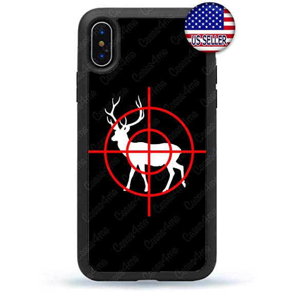 new concept b8a90 12e2d Amazon.com: Deer Hunting Target Hunter Phone Case Slim Shockproof ...