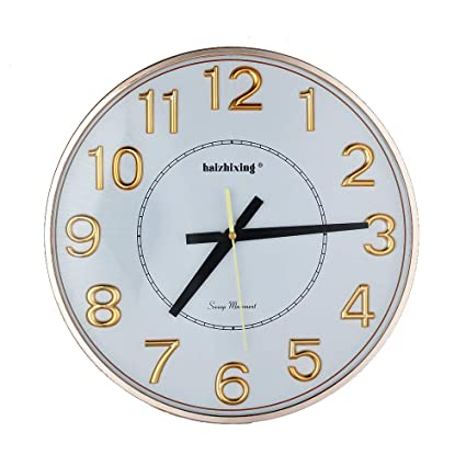 Amazoncom Haizhixing Large Number Wall Clock 13 Silent Non