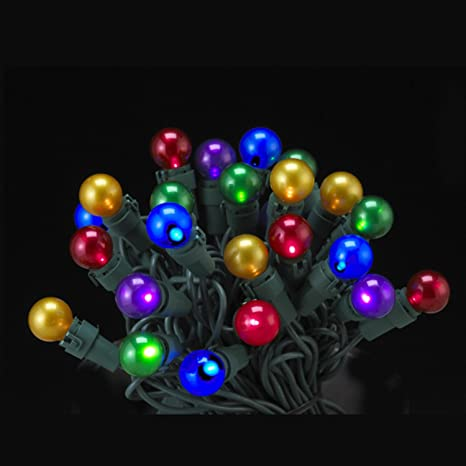 set of 50 led multi colored pearl glass g15 berry christmas lights green lights