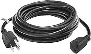 ETOPLIGHTING 3 Prong, 10ft Power Extender Cord Cable, Adapter, Outlet Saver, UL Listed, Indoor/Outdoor, 18AWG [0.824mm²] 300V, APL1737