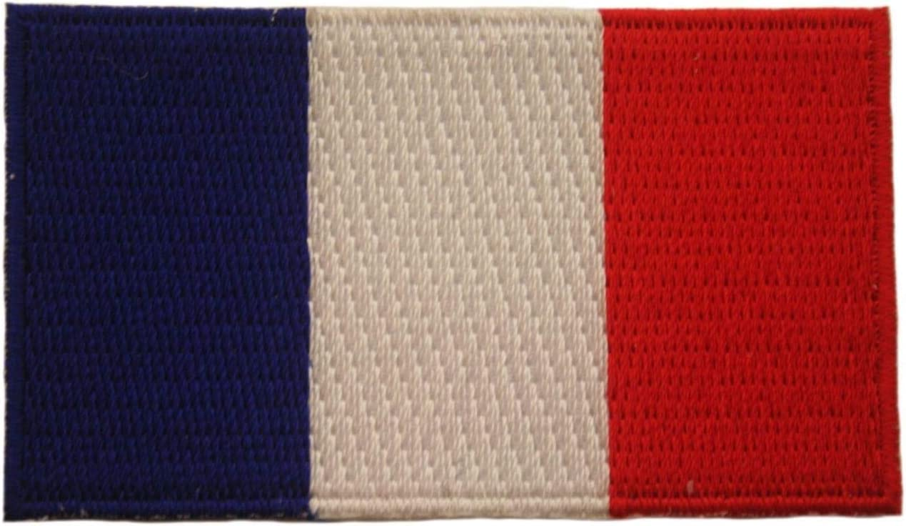 FRANCE COUNTRY FLAG IRON-ON PATCH CREST BADGE 1.5 X 2.5 INCH