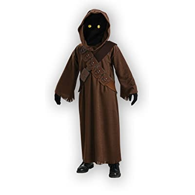 Star Wars Jawa Costume with Light Up Eyes - One Color - Medium: Toys & Games [5Bkhe1805305]