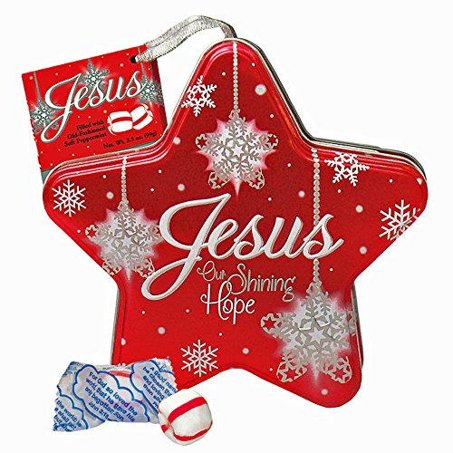 Scripture Candy 131320 Candy - C - Jesus Our Shining Hope - Soft Peppermint In Star Tin