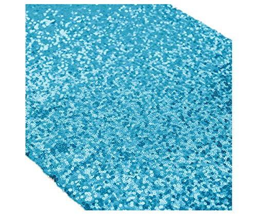 Party Packs Sweet - Turquoise Table Decor Party Table Runner 12x72-Inch Sequin Table Runner Aqua Blue Sweet 16 Party Supplies Pack of 5~1108S