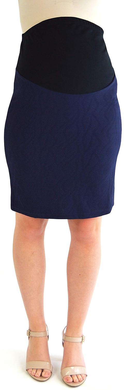 Jupe sp/écial grossesse Crayon Femme Bleu bleu marine Elizabeth Brown Maternity