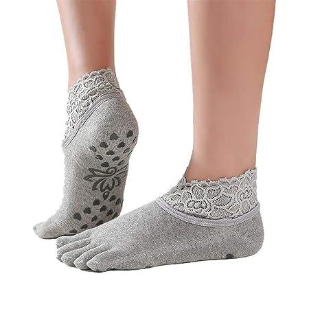 Calcetines de yoga antideslizantes calcetines de las mujeres ...