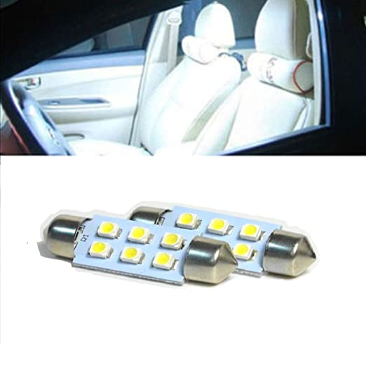 Ess Tech 2 bombillas LED para luz interior de coche, 41 mm, con 6