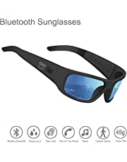 Waterproof Audio Sunglasses,Open Ear Bluetooth Sunglasses to Listen Music and Make Phone Calls with Polarized UV400 Protection Safety Lenses,Unisex Design Sport Design for All Smart Phones