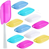 10 Pieces Travel Portable Toothbrush Head Covers Toothbrush Protective Case (Style A)