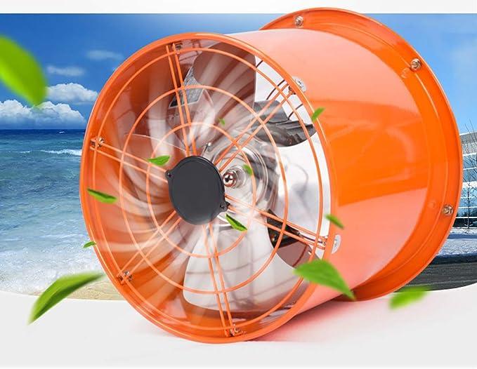 Ventilador Comercial Industrial, Extractor de Tubo cilíndrico portátil de 10 Pulgadas, Potente Extractor de Cocina/Campana extractora: Amazon.es: Hogar
