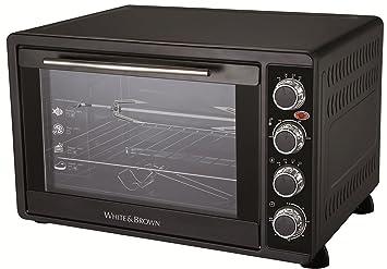 White & Brown MF62 - Horno microondas con grill, 2000 W, color negro