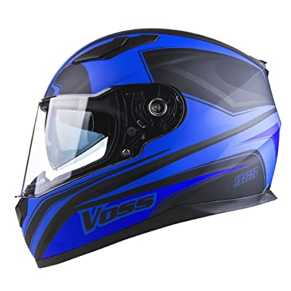Voss 988 Synchro Graphic DOT Full Face Helmet with Integrated Sun Lens - XS - Matte