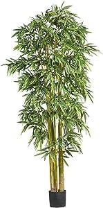 Nearly Natural 7' Big Bamboo Silk Trees, Green