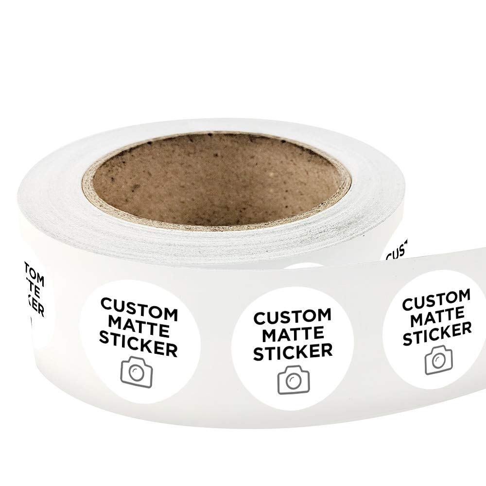 Amazon com 5000 round custom matte roll label stickers 3 x 3 for products packaging bottles or events upload your own image logo