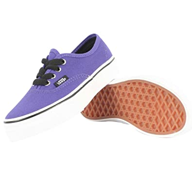 b8863f4f2009 Image Unavailable. Image not available for. Color  Vans - Kids Authentic  Shoes In Dark Purple ...