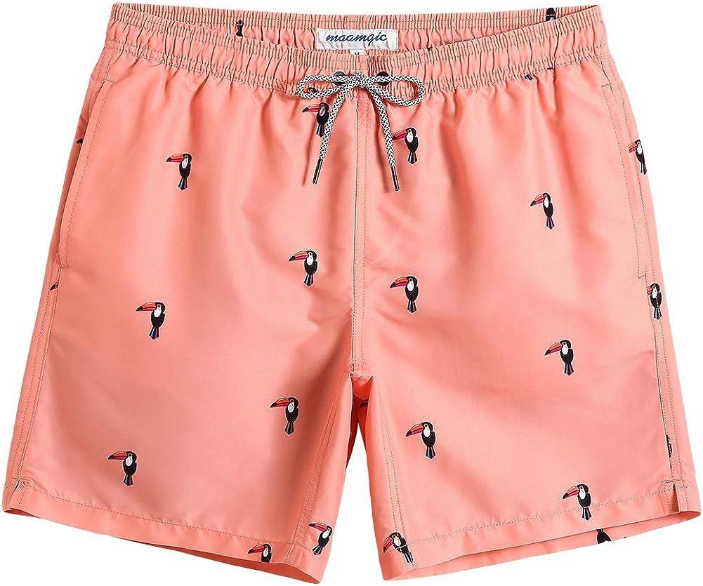 MaaMgic Mens Swim Trunks Slim Fit Quick Dry Swim Shorts Swimwear Mens Bathing Suits with Mesh Lining