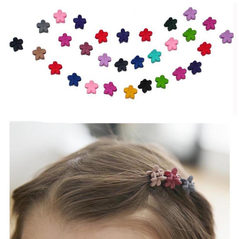 30Pcs EQLEF/® Mix Color Flower Hair Claws Baby Girls Hairpin Kids Hair Accessories