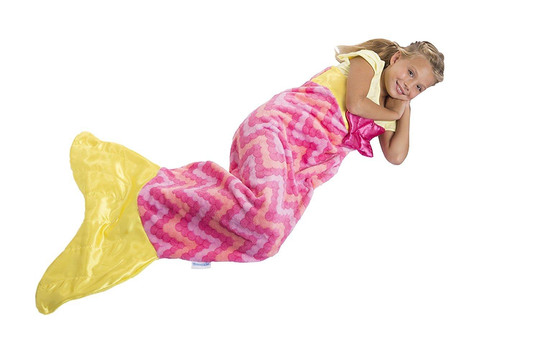 Galleon Snuggie Tails Mermaid Blanket For Kids Pink