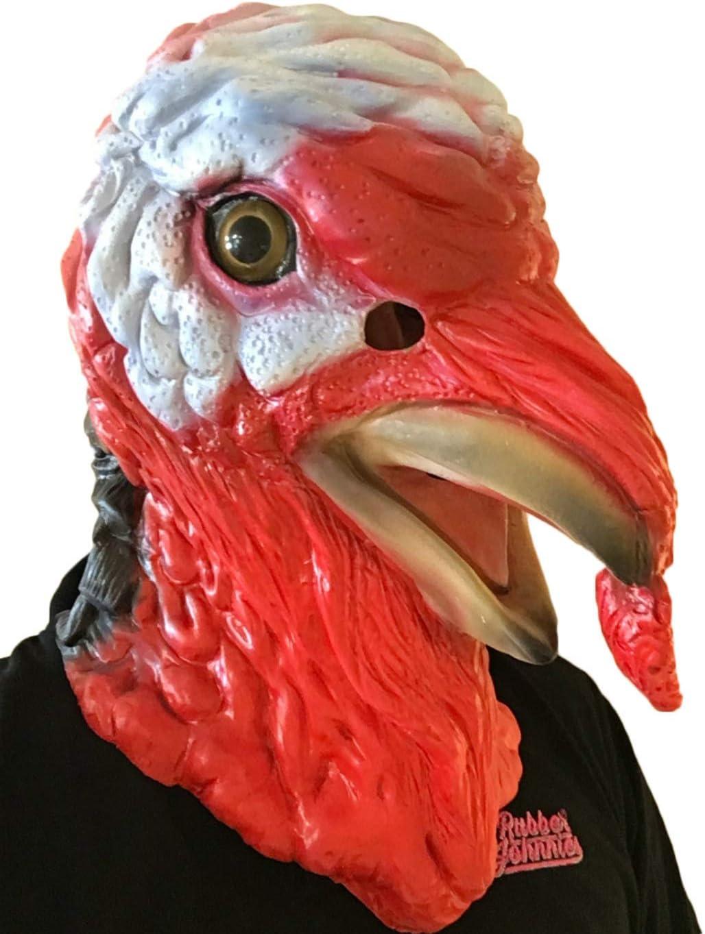 Pavo Pájaro Máscara CINE CALIDAD Disfraz: Amazon.es: Juguetes y juegos