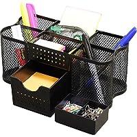 DecoBros Desk Supplies Organizer Caddy, Negro