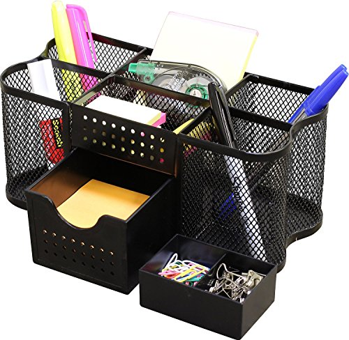 DecoBros Desk Supplies Organizer Caddy, Black ()