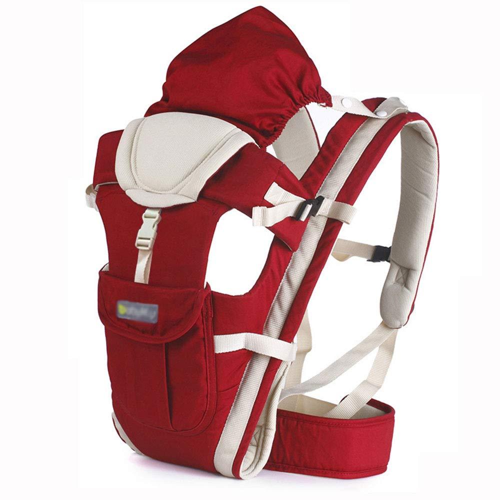Edelehu Baby-Träger Atmungsaktives Mesh-Tuch Reise-Spaziergang Baumwolle Baby-Tragekomfortable und Ergonomische Kind-und Neugeborenen-Tragetuch Multi-Position Tragetuch