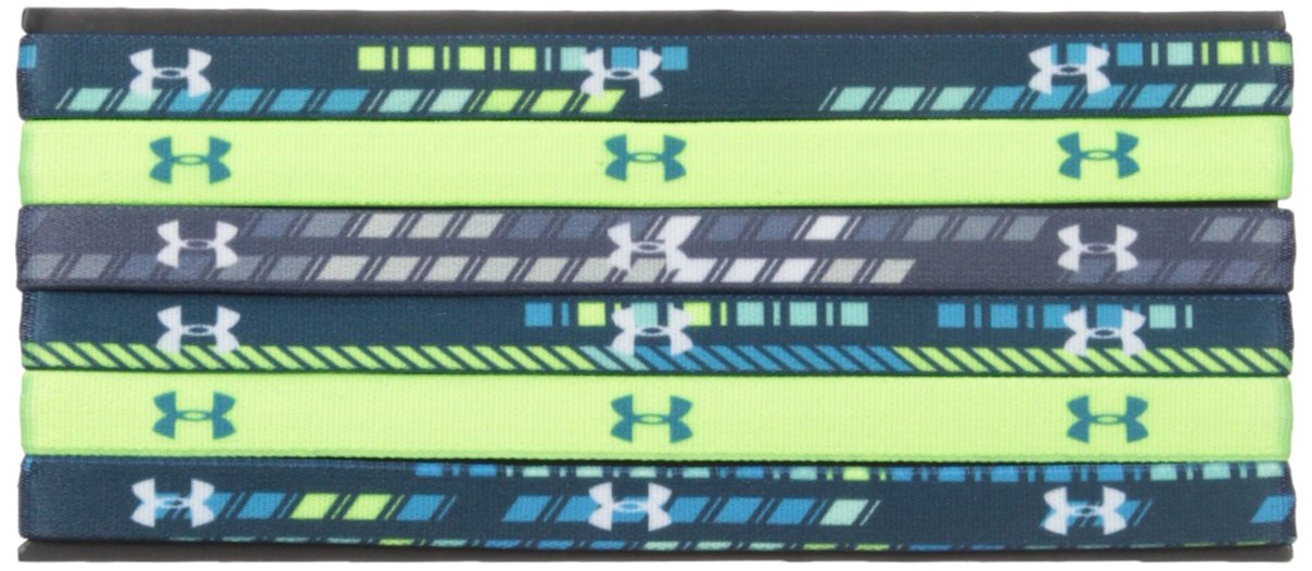 Under Armour Girls' Graphic Headbands - 6 Pack, True Ink /White, One Size Fits All by Under Armour (Image #1)