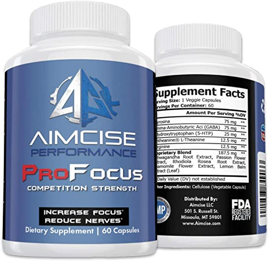 ProFocus Brain Nutrition Supplement Booster Helps Increase Focus, Concentration, Mental Performance and Alertness by Pro Athletes