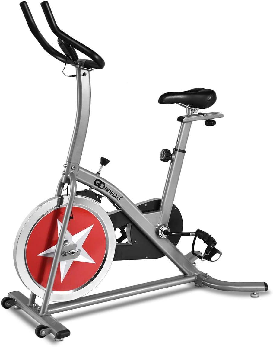 GOPLUS estacionaria Bicicleta Ciclo Indoor Trainer Ajustable ...