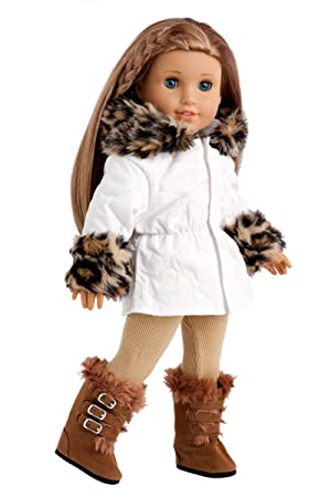 e8ddcb1a2 Winter Fun - 3 piece outfit - Ivory Parka with Leggings and Boots ...