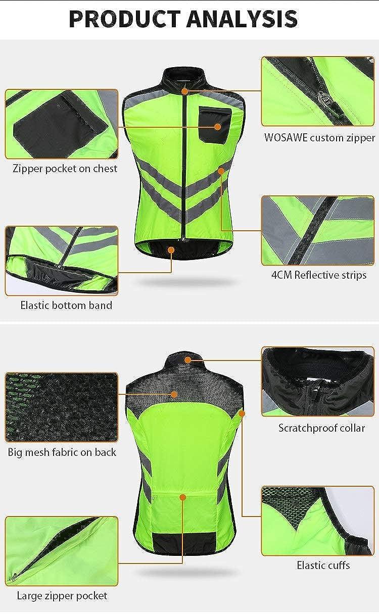 Lyrio Reflektierende Radsportwesten /ärmellose winddichte Sport Ciclismo Trikots MTB Rennrad Fahrradbekleidung Mantel Zyklus Kleidung