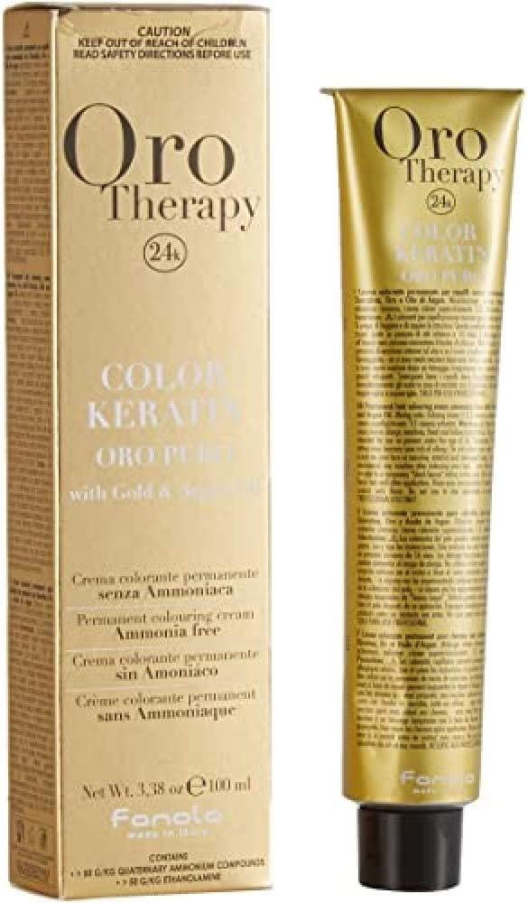 Fanola - Oro Therapy Color Keratin Puro, crema colorante permanente 100mL plateado