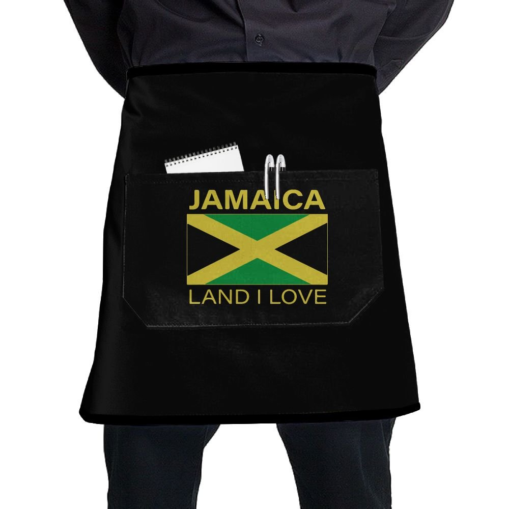 Men Women Jamaica Land I Love Adjustable Cooking Chef Apron With Front Pocket