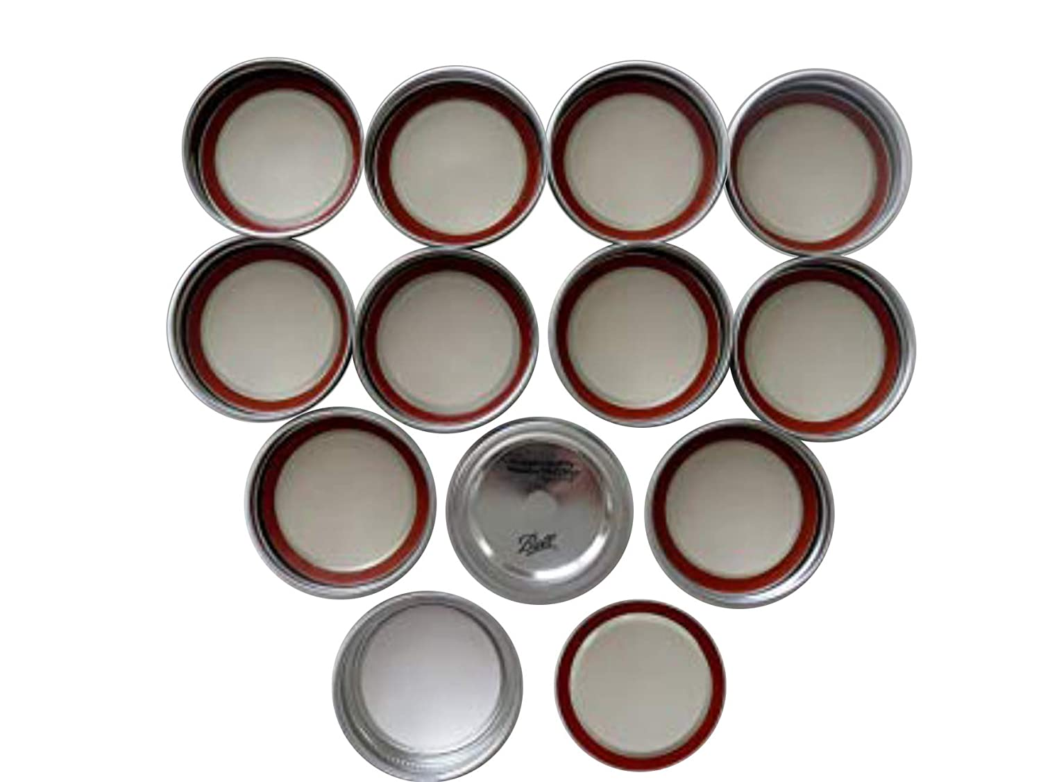 Mason Jar Wide Mouth Lids and Bands/Lot of 12 Ball
