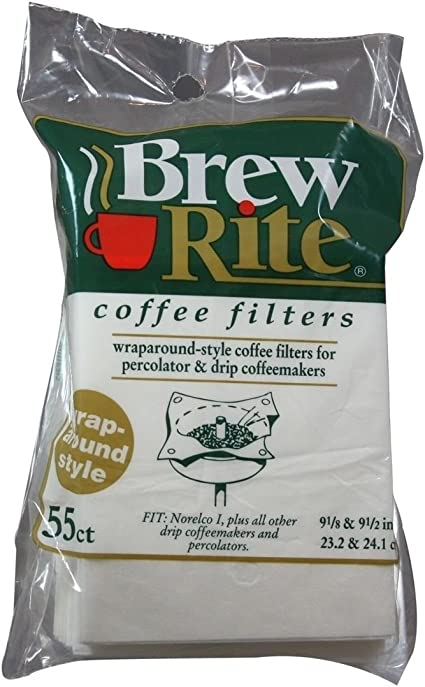 Brew Rite Replacement Wrap Around Style Coffee Maker Paper Filters 41-551 55 Ct