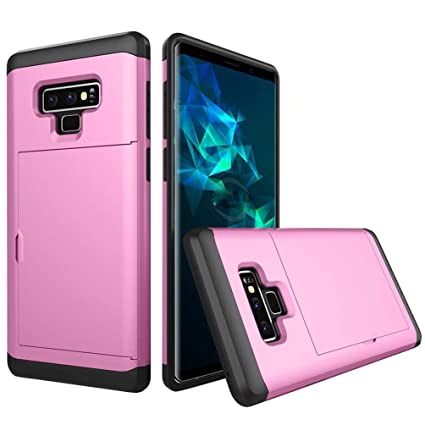 aae320142800 Amazon.com: Compatible with Galaxy Note 9 Case Slider Card Slot Soft ...