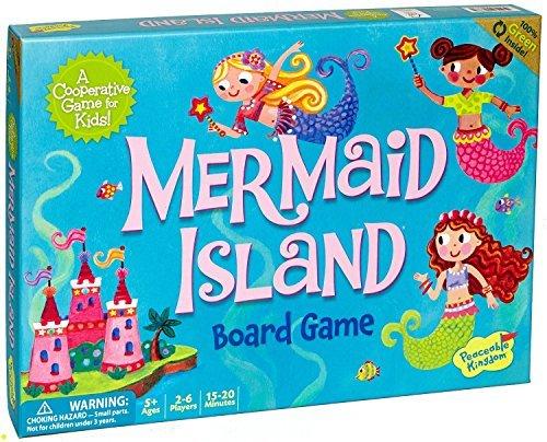 Peaceable Kingdom Mermaid Island Cooperative Board Game for Kids