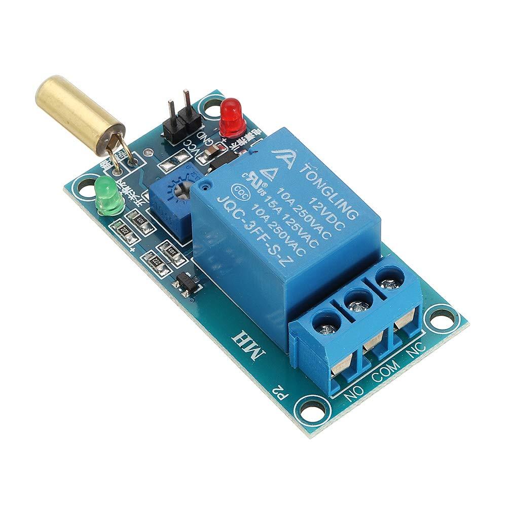 ROUHO Sw-520 Sensor De Inclinaci/ón M/ódulo De Rel/é 12V Equipo De Inclinaci/ón De Volcado De Protecci/ón Alarma Tablero De Gatillo