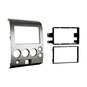 Metra 95-7406 Double DIN Installation Dash Kit for 2004-2007 Nissan Titan and 2004-2005 Nissan Armada -Silver