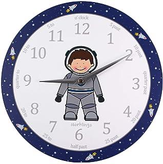 ea72d276f0325 Storklings Spaceman Clock For Kids Bedroom Walls Astronaut Toys Childrens  Bedroom Accessories