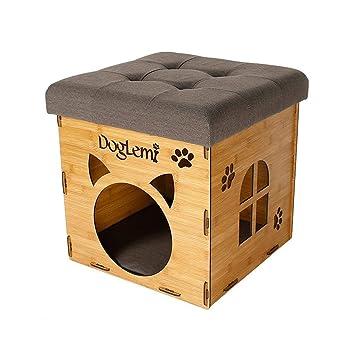 BTPDIAN Casa de Gato Lavable casa de Gato Caliente de Verano Pet Nest Suministros para Gatos Camas para Gatos Suministros para Gatos (Color : Beige): ...