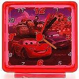 Disney World of Cars Lightening Mc Queen Red Kids Bedside Alarm Clock 53158D
